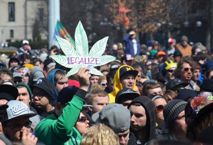 Legalize cannbis protest