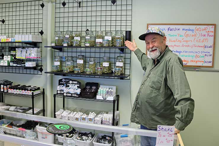Budtender in a dispensary